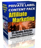 Thumbnail Private Label Article Pack : Affiliate Marketing - With Private Label Rights