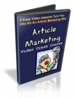 Thumbnail Article Marketing Video Crash Course