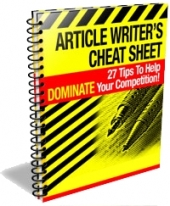 Thumbnail Article Writer's Cheat Sheet - With Private Label Rights