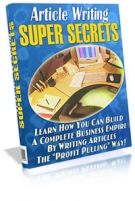 Thumbnail Article Writing Super Secrets With Resell Rights