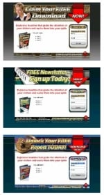 Thumbnail 3 Audio Squeeze Page Templates