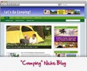Thumbnail Camping WordPress Blog - With Personal Use Rights
