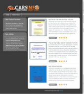 Thumbnail Cars Review Site - With Private Label Rights