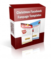 Thumbnail Christmas Facebook Fanpage Templates - With Private Label Rights