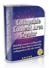 Thumbnail Collapsible Content Area Creator - With Master Resell Rights
