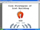 Thumbnail Core Strategies Of List Building - With Giveaway Rights
