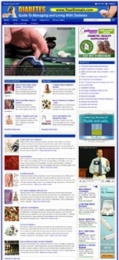 Thumbnail Diabetes Website - With Private Label Rights
