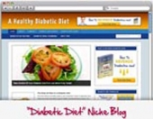 Thumbnail Diabetic Diet WordPress Blog - With Personal Use Rights