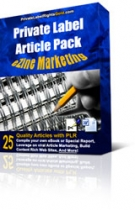 Thumbnail Private Label Article Pack : Ezine Marketing Articles - With Private Label Rights