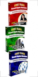 Thumbnail First Class Resell Rights Marketer : Triple Pack - With Master Resell Rights