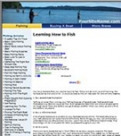 Thumbnail Fishing Website - With Private Label Rights