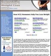 Thumbnail HCG Diet Website - With Private Label Rights