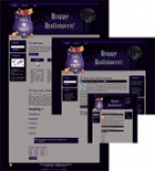 Thumbnail Halloween Site Template 3 - With Master Resale Rights