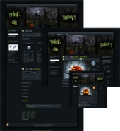Thumbnail Halloween Witches House WP Theme - With Master Resale Rights