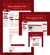 Thumbnail Hearts-N-Chocs - WP Theme - With Master Resale Rights