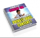 Thumbnail How To Cash In With Your Own Private Label Content! - With Resell Rights