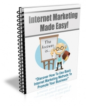 Thumbnail Internet Marketing Made Easy - With Personal Use Rights
