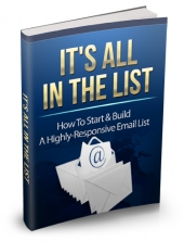 Thumbnail It's All In The List - With Master Resell Rights