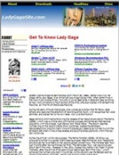 Thumbnail Lady Gaga Website - With Private Label Rights