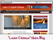 Thumbnail Learn Chinese WordPress Niche Blog - With Personal Use Rights