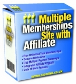 Thumbnail Multiple Memberships Site With Affiliate - With Private Label Rights