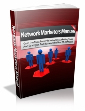 Thumbnail Network Marketers Manual - With Master Resell Rights