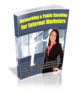 Thumbnail Networking & Public Speaking For Internet Marketers - With Private Label Rights