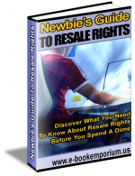 Thumbnail Newbies Guide To Resale Rights - With Resell Rights