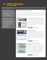 Thumbnail Offline Marketing Niche Site - With Private Label Rights