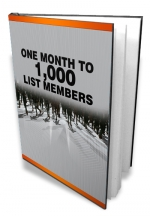 Thumbnail One Month To 1,000 List Members - With Master Resale Rights