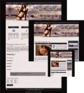 Thumbnail On the Beach 02 - WP Theme - With Master Resale Rights
