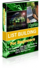 Thumbnail Opt-in List Building For Beginners With Private Label Rights