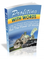 Thumbnail Profiting With Words - With Master Resale Rights