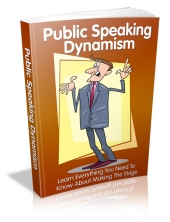 Thumbnail Public Speaking Dynamism - With Master Resell Rights
