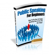 Thumbnail Public Speaking For Beginners - With Private Label Rights