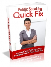 Thumbnail Public Speaking Quick Fix - With Master Resell Rights