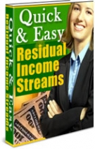 Thumbnail Quick & Easy Residual Income Streams - With Resell Rights