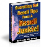 Thumbnail Scorching Hot Resell Tips From A Resell Junkie! - With Master Resale Rights