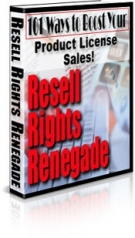 Thumbnail Resell Rights Renegade - With Master Resell Rights