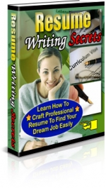 Thumbnail Resume Writing Secrets - With Private Label Rights