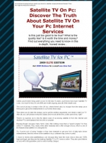 Thumbnail Satellite TV On PC - With Resale Rights
