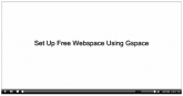 Thumbnail Set Up Free Webspace Using Gspace - With Private Label Rights