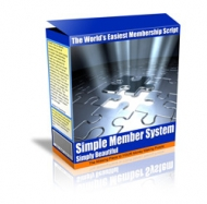 Thumbnail Simple Member System - With Master Resale Rights
