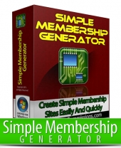 Thumbnail Simple Membership Generator - With Master Resell Rights