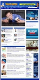 Thumbnail Sleep Apnea Website - With Private Label Rights