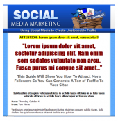 Thumbnail Social Media Marketing Template - With Personal Use Rights
