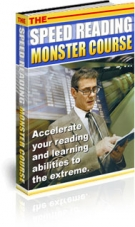Thumbnail The Speed Reading Monster Course - With Private Label Rights