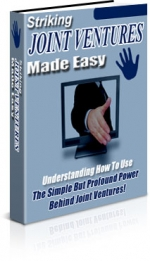 Thumbnail Striking Joint Ventures Made Easy - With Master Resale Rights