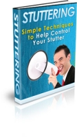Thumbnail Stuttering - Simple Techniques to Help Control Your Stutter - With Private Label Rights