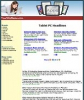 Thumbnail Tablets Website - With Private Label Rights
